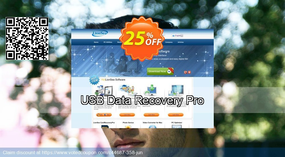 Get 25% OFF USB Data Recovery Pro promo