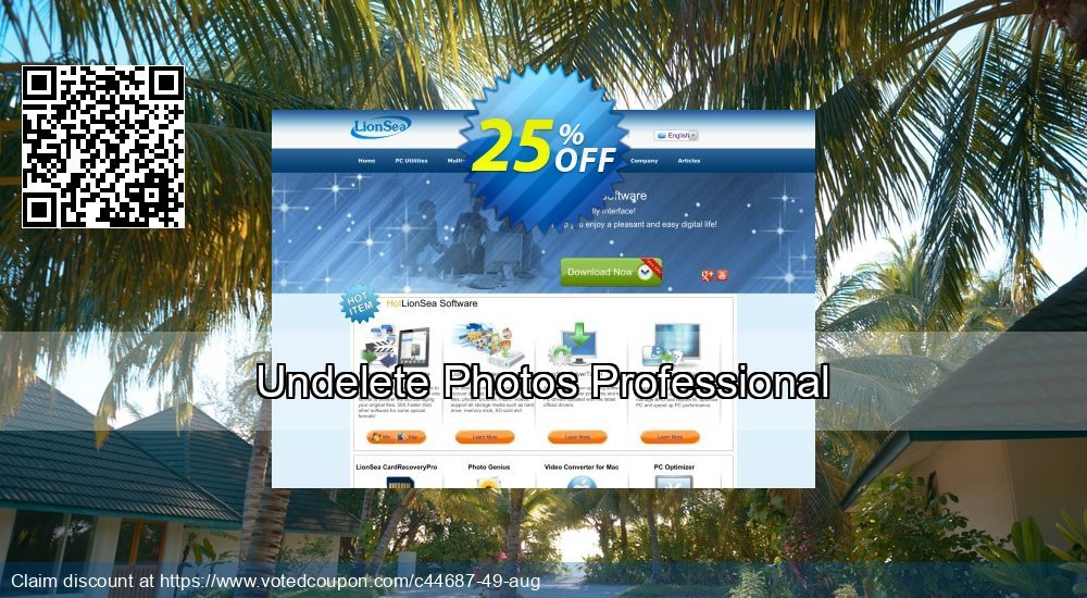 Get 25% OFF Undelete Photos Professional offering sales