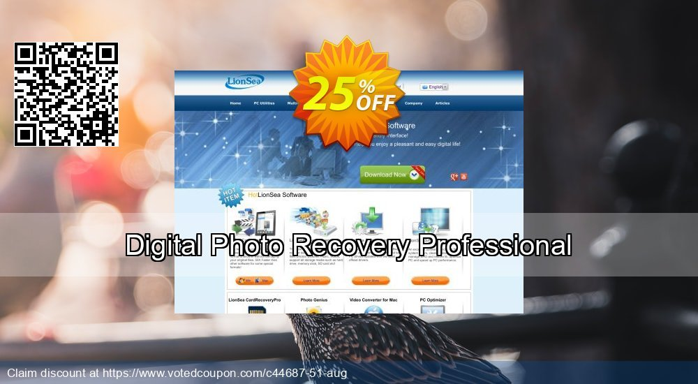 Get 25% OFF Digital Photo Recovery Professional offering sales