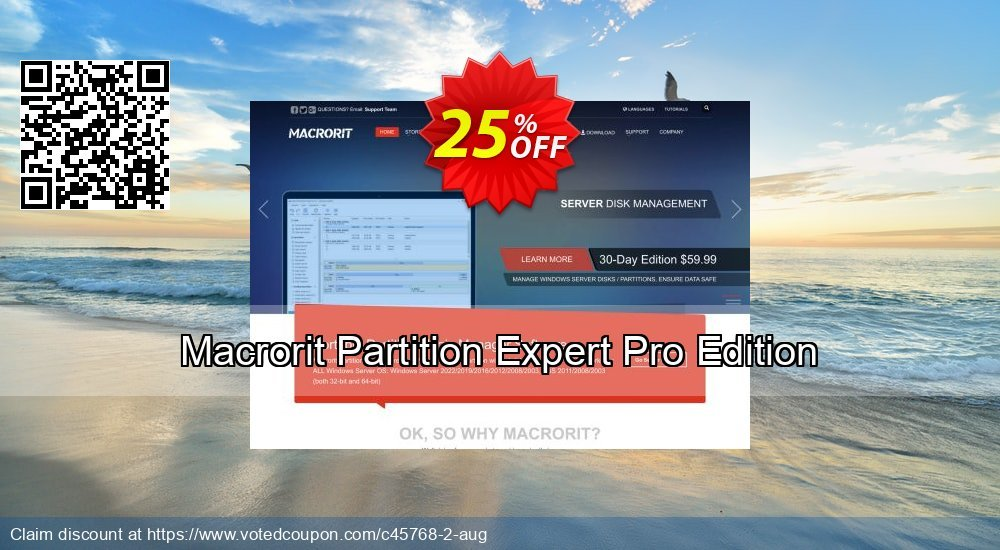 Get 25% OFF Macrorit Partition Expert Pro Edition offering sales