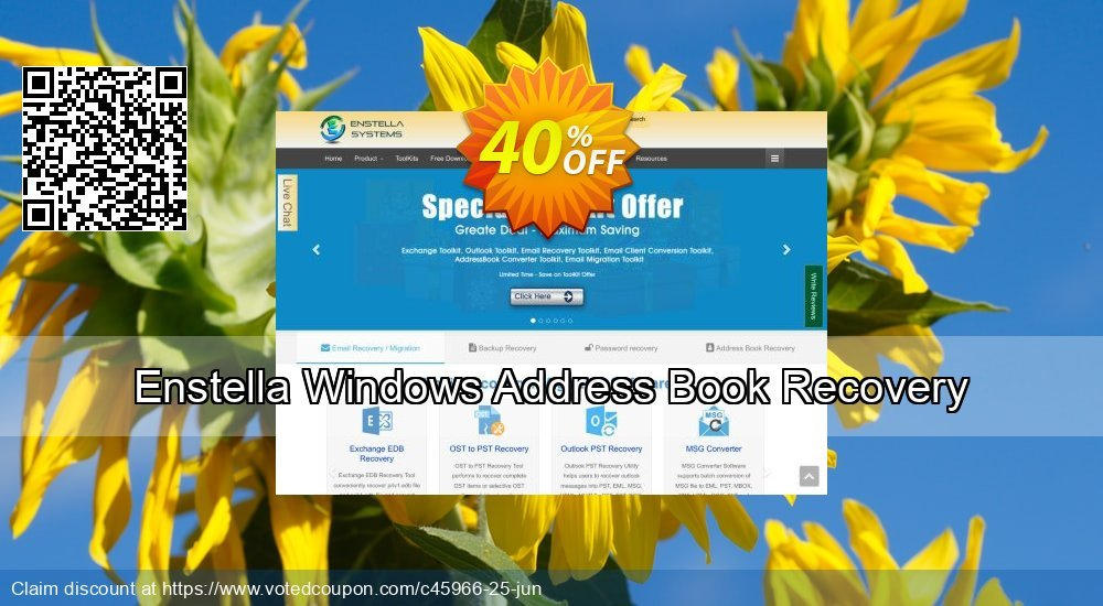 Get 40% OFF Enstella Windows Address Book Recovery Coupon