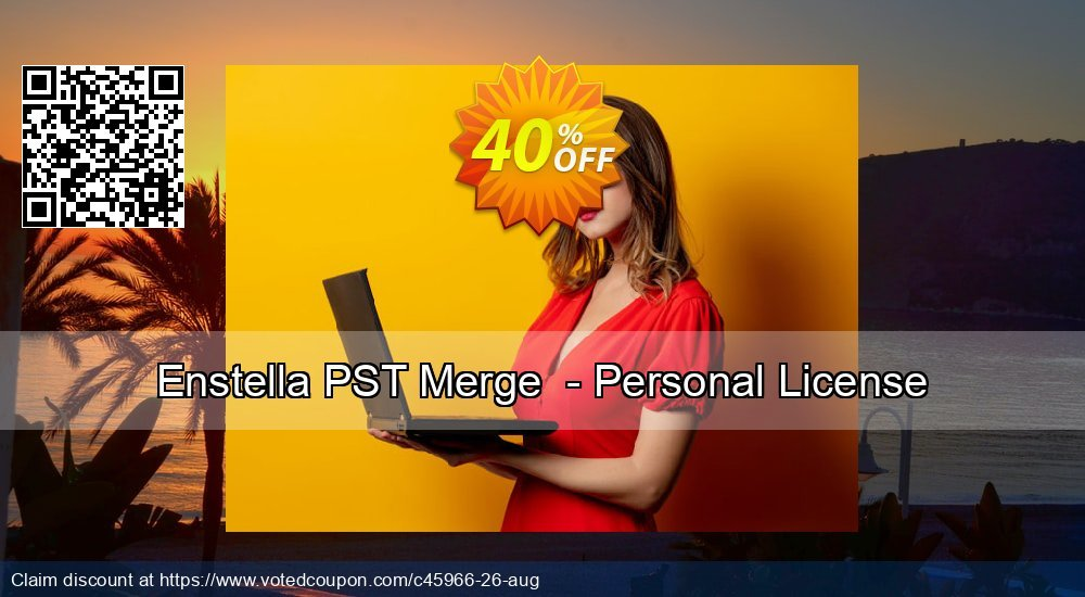 Get 40% OFF Enstella PST Merge - Personal License offering sales