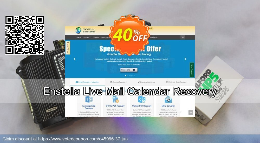 Get 40% OFF Enstella Live Mail Calendar Recovery Coupon