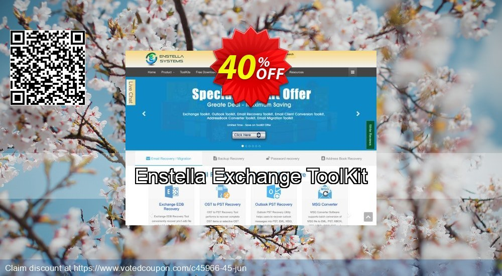 Get 40% OFF Enstella Exchange ToolKit Coupon