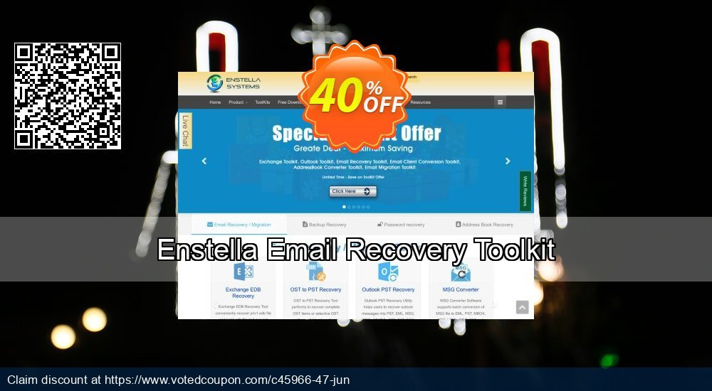 Get 40% OFF Enstella Email Recovery Toolkit Coupon