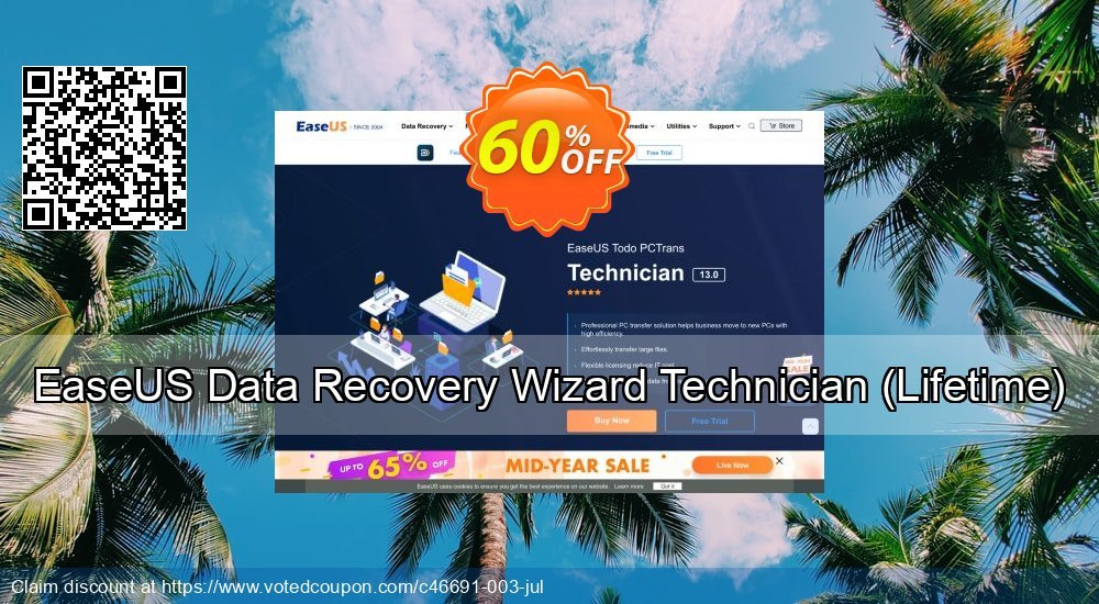 Get 50% OFF EaseUS Data Recovery Wizard Technician Lifetime Coupon