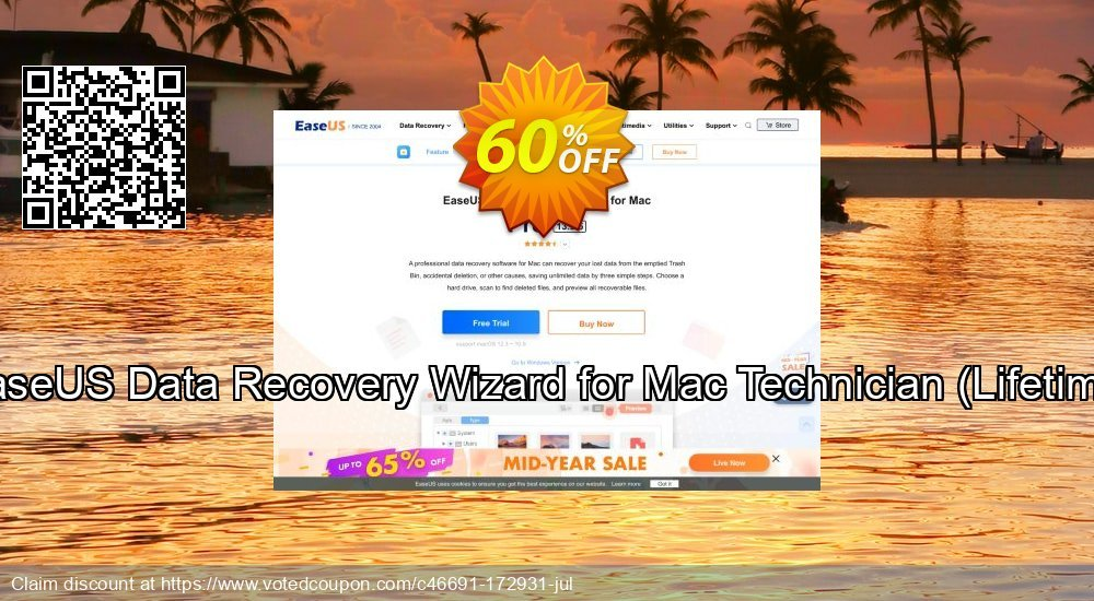 Get 50% OFF EaseUS Data Recovery Wizard for Mac Technician, Lifetime Coupon