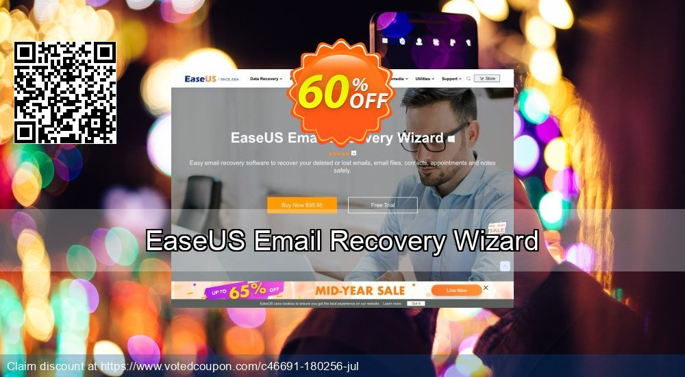 Get 40% OFF EaseUS Email Recovery Wizard Coupon