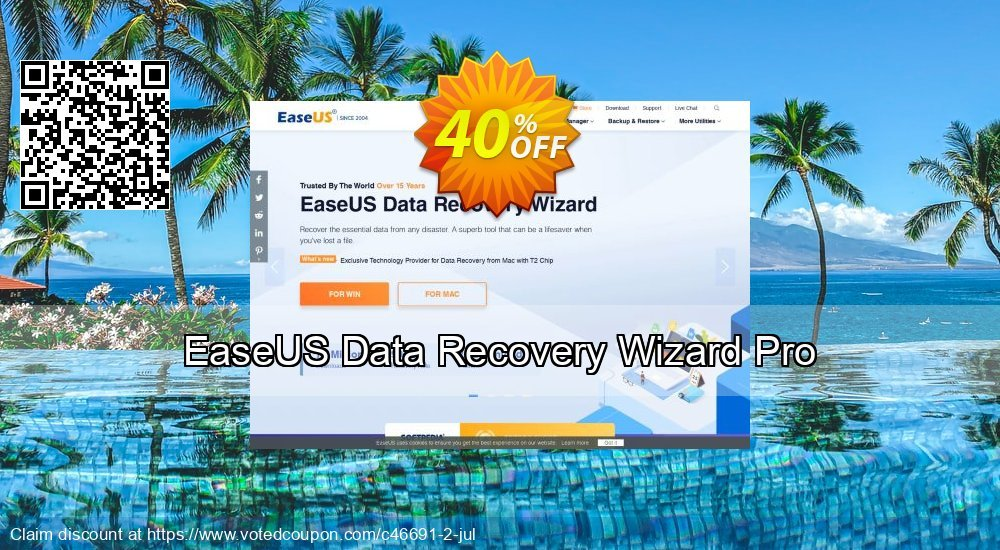 Get 31% OFF EaseUS Data Recovery Wizard Pro Coupon