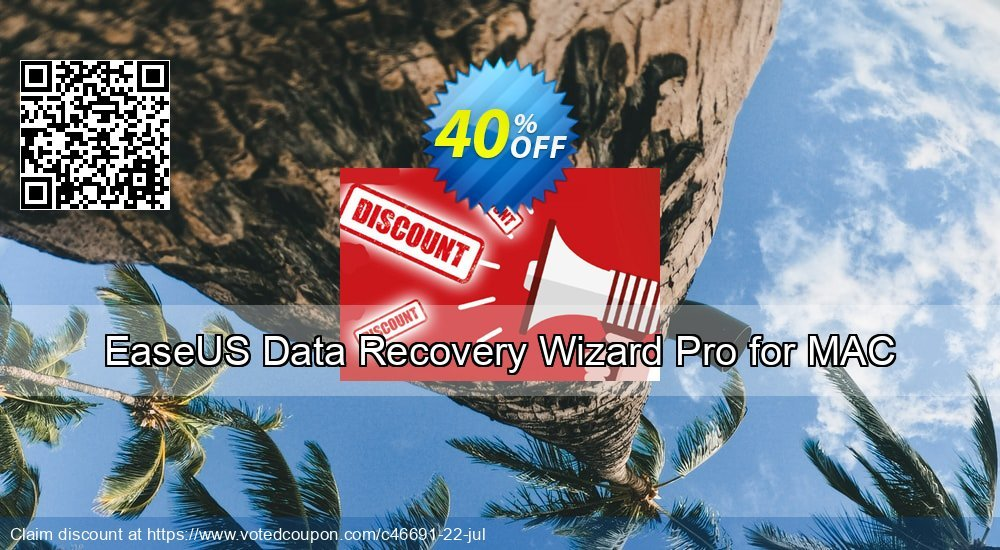 Get 20% OFF EaseUS Data Recovery Wizard Pro for Mac Coupon