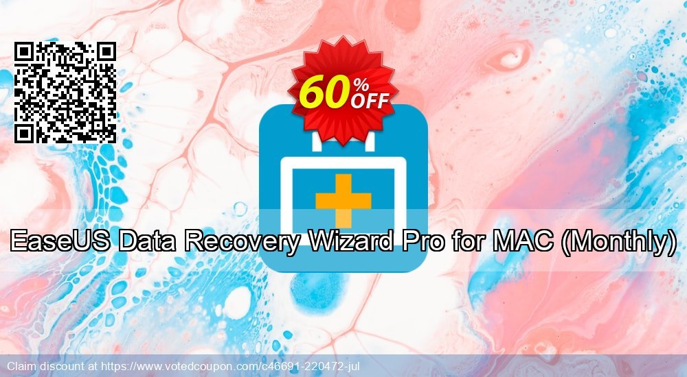 Get 50% OFF EaseUS Data Recovery Wizard Pro for MAC - 1 month Coupon