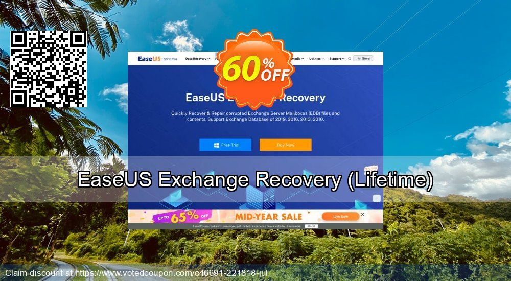 Get 40% OFF EaseUS Exchange Recovery, Lifetime Coupon