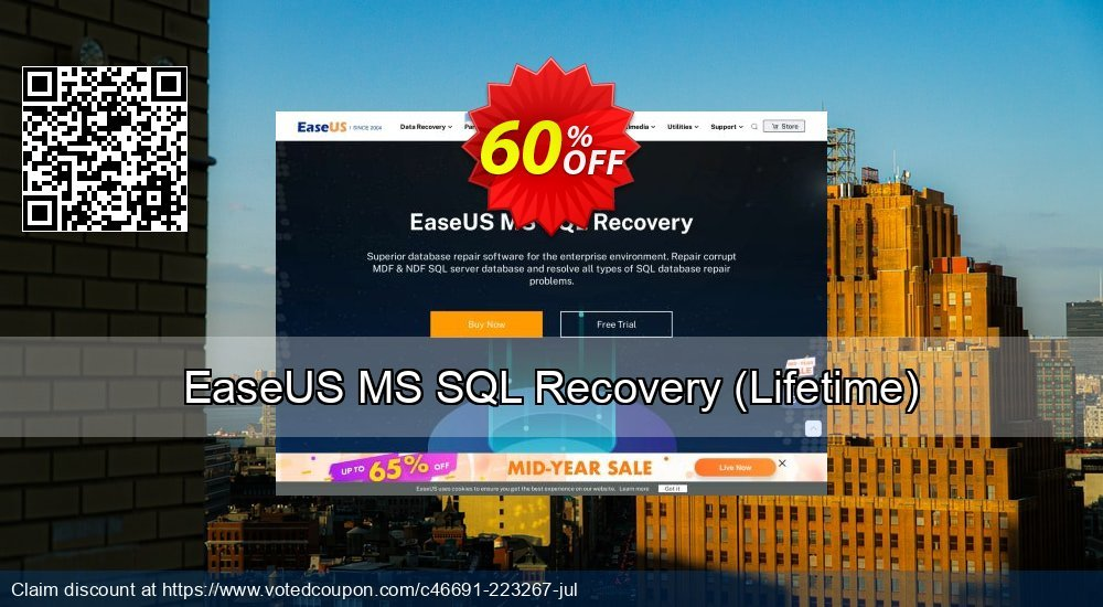 Get 40% OFF EaseUS MS SQL Recovery, Lifetime Coupon