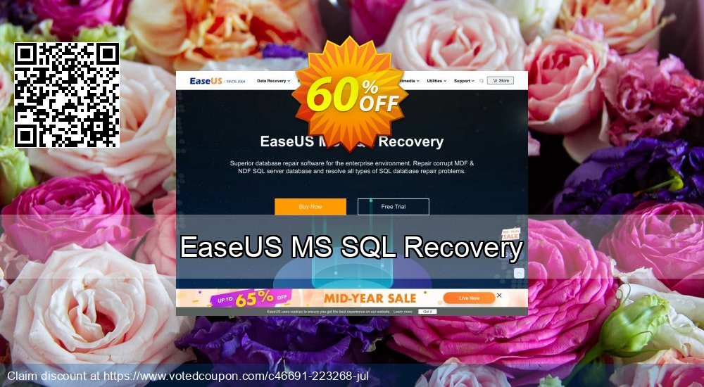 Get 40% OFF EaseUS MS SQL Recovery Coupon
