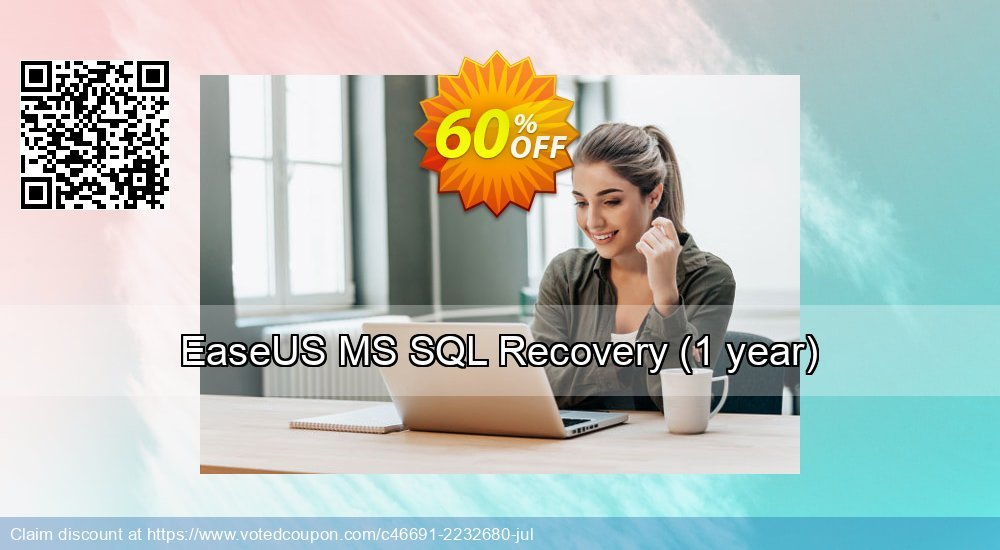 Get 40% OFF EaseUS MS SQL Recovery, 1 year Coupon