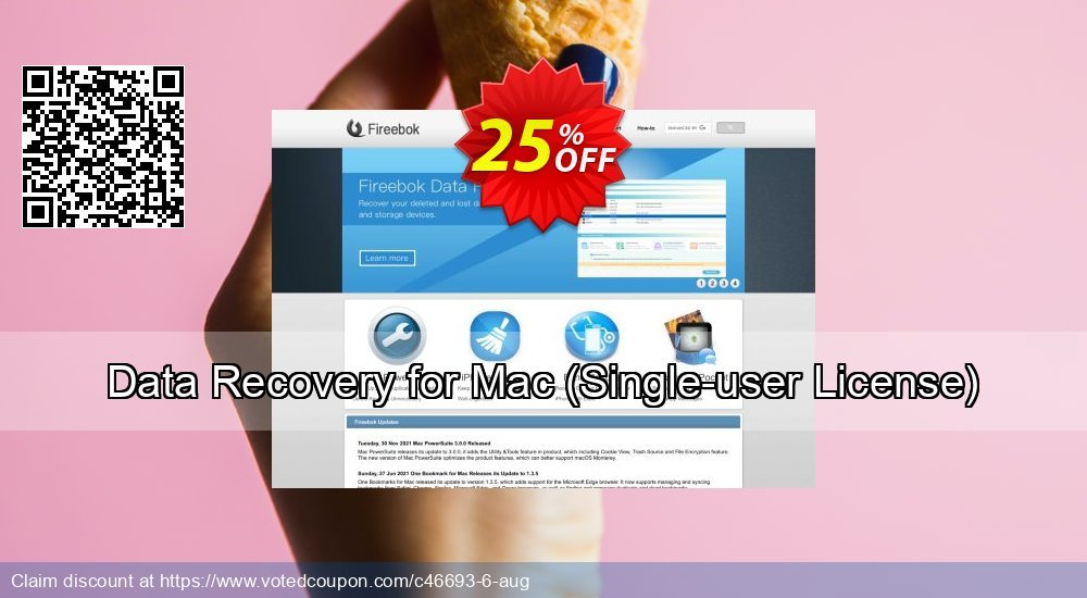 Get 25% OFF Data Recovery for Mac (Single-user License) offering sales
