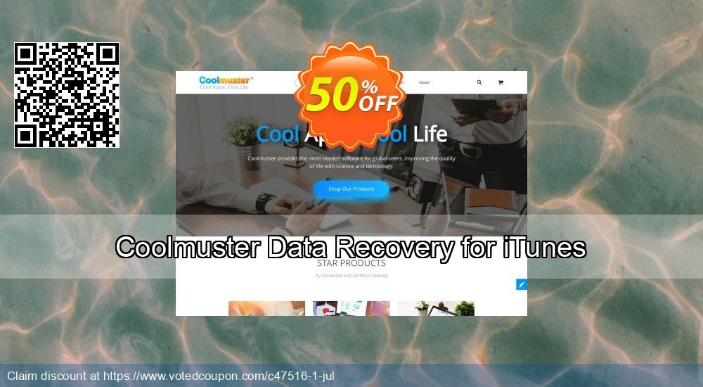 Get 50% OFF Coolmuster Data Recovery for iTunes promo