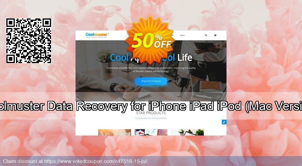 Get 51% OFF Coolmuster Data Recovery for iPhone iPad iPod, Mac Version Coupon