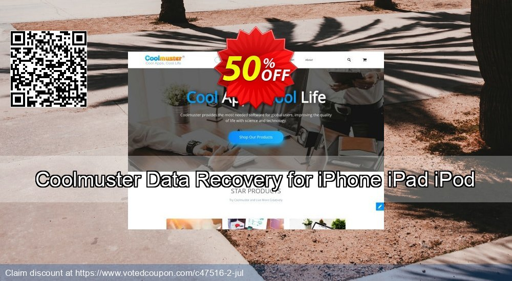 Get 50% OFF Coolmuster Data Recovery for iPhone iPad iPod Coupon