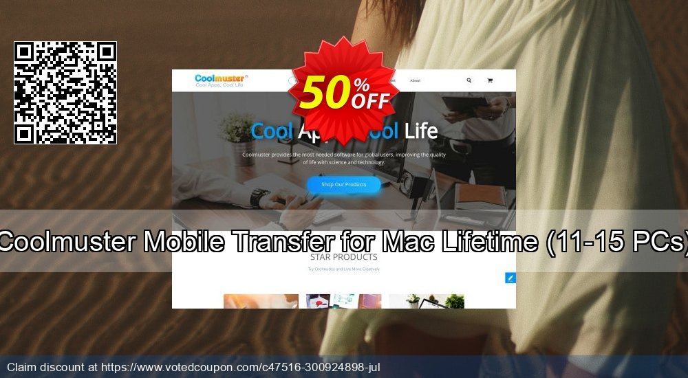 Get 50% OFF Coolmuster Mobile Transfer for Mac - Lifetime (11-15PCs) discounts