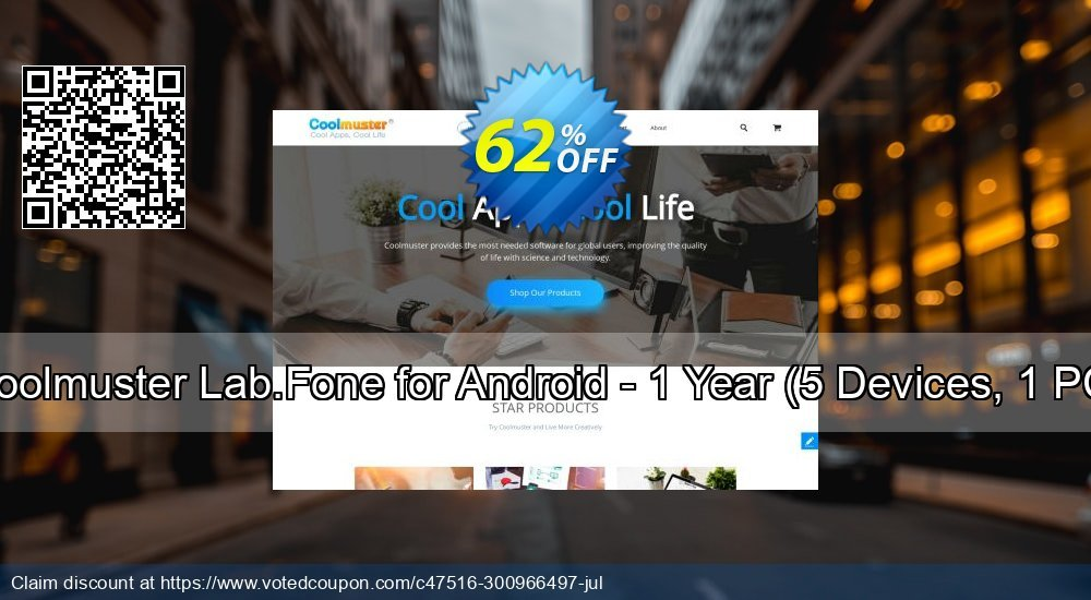 Get 63% OFF Coolmuster Lab.Fone for Android - 1 Year, 5 Devices, 1 PC Coupon
