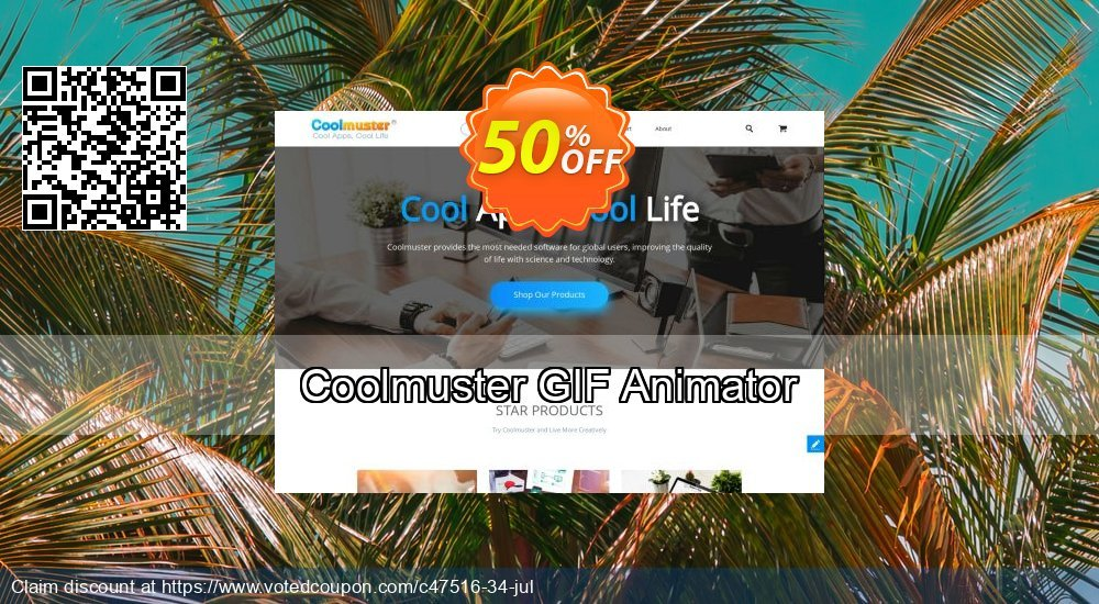 Get 50% OFF Coolmuster GIF Animator offering sales