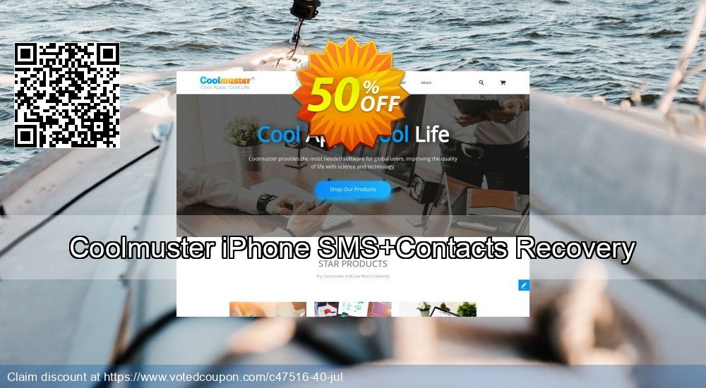 Get 52% OFF Coolmuster iPhone SMS+Contacts Recovery Coupon