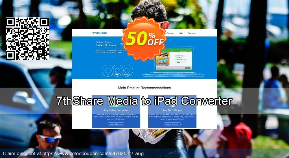 Get 50% OFF 7thShare Media to iPad Converter offering discount
