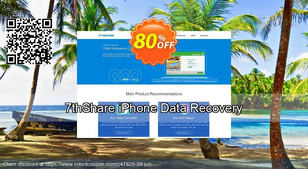 Get 50% OFF 7thShare iPhone Data Recovery Coupon