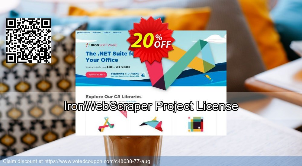 20% OFF IronWebScraper Project License Coupon code on July 4th offer, July  2019