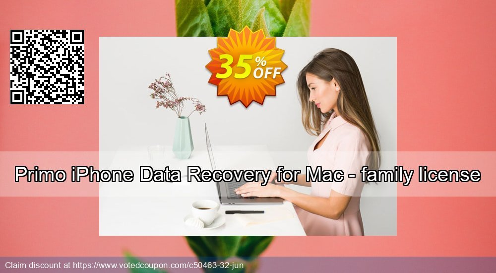 Get 20% OFF Primo iPhone Data Recovery for Mac - family license Coupon