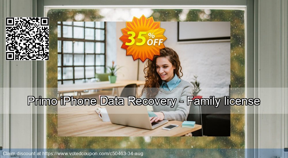 Get 20% OFF Primo iPhone Data Recovery - Family license Coupon