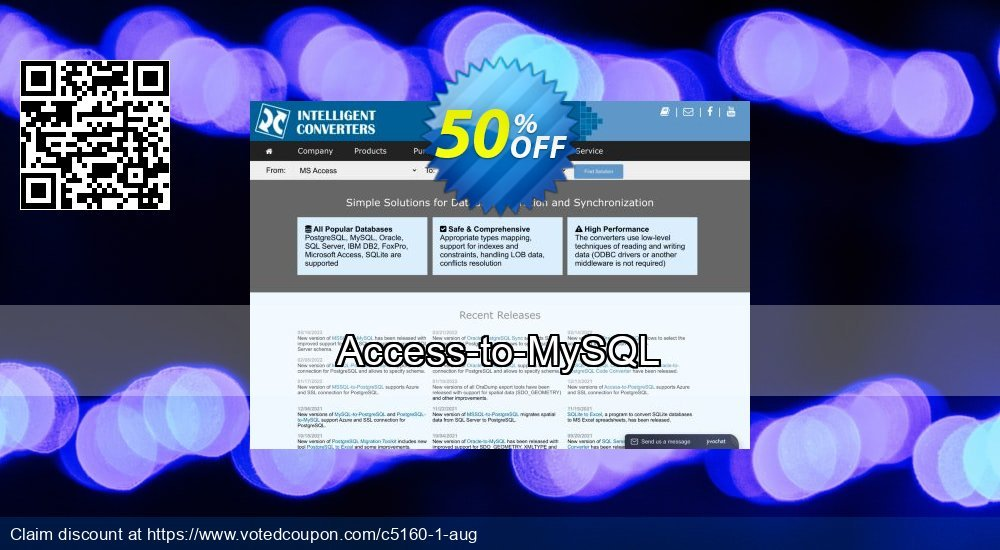 Get 50% OFF Access-to-MySQL sales