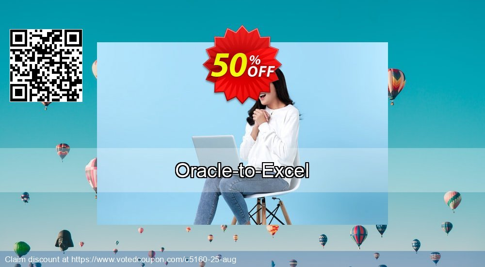 Get 50% OFF Oracle-to-Excel offering sales