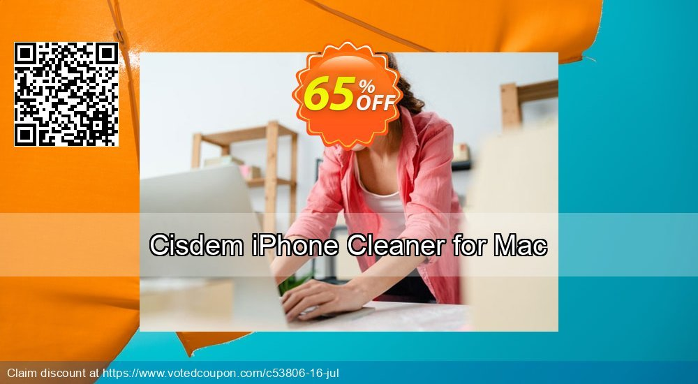 Get 25% OFF Cisdem iPhone Cleaner for Mac offering sales