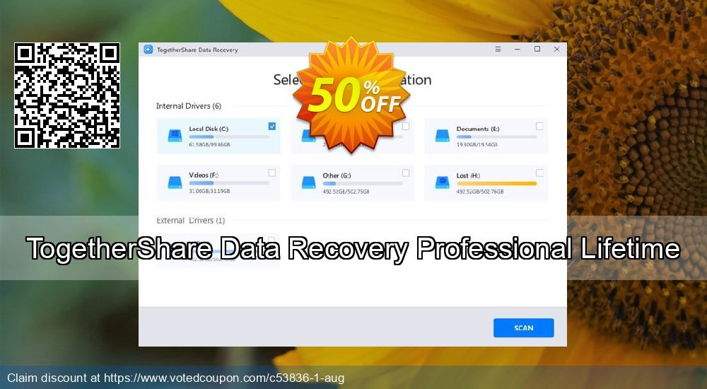 Get 51% OFF TogetherShare Data Recovery Professional Lifetime Coupon