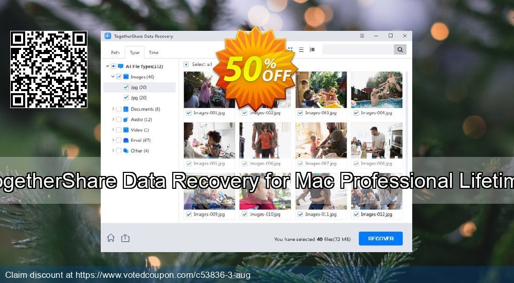 Get 51% OFF TogetherShare Data Recovery for Mac Professional Lifetime Coupon