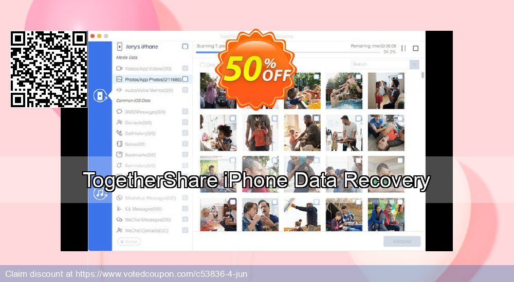 Get 89% OFF TogetherShare iPhone Data Recovery for Windows promo sales