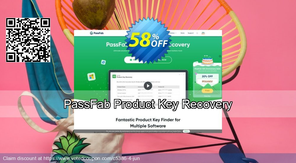 Get 59% OFF PassFab Product Key Recovery Coupon