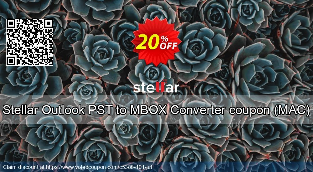 Get 10% OFF Stellar Outlook PST to MBOX Converter coupon (MAC) promo