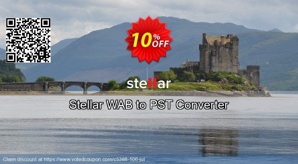 Get 10% OFF Stellar WAB to PST Converter offering sales