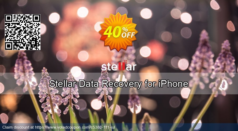 Get 40% OFF Stellar Data Recovery for iPhone promotions