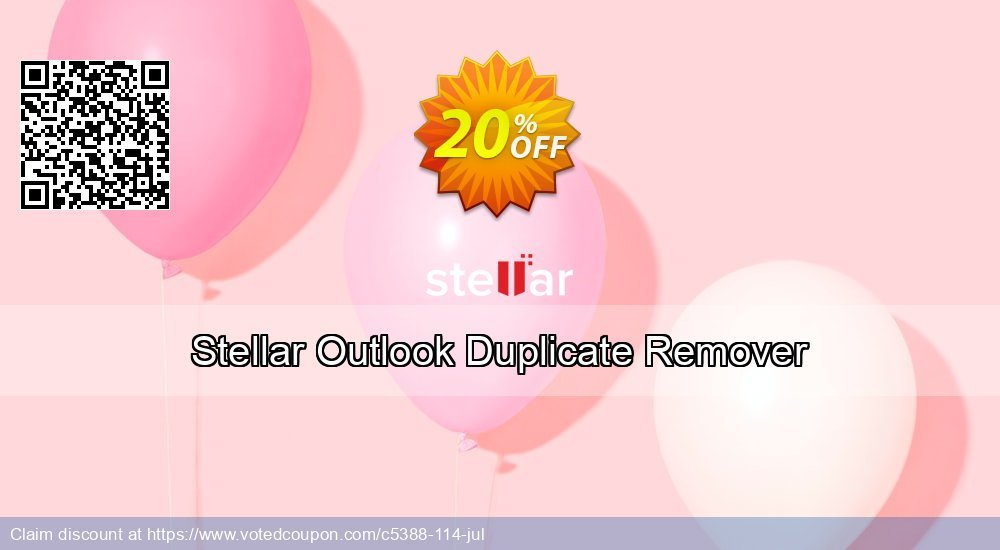 Get 20% OFF Stellar Outlook Duplicate Remover offering discount