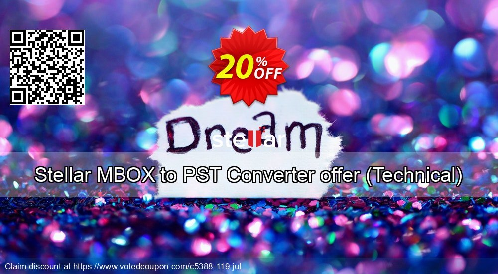 Get 20% OFF Stellar MBOX to PST Converter offer (Technical) offering sales