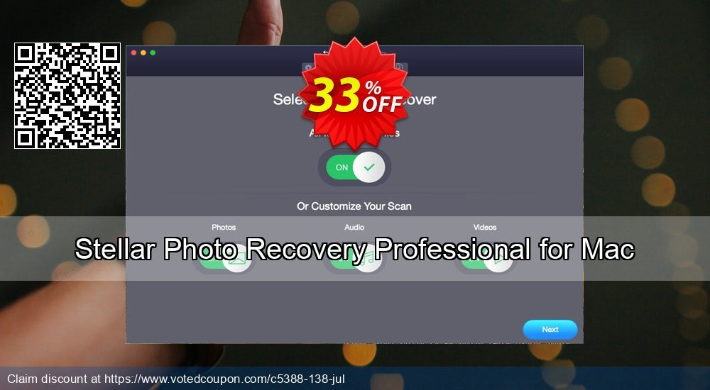 Get 27% OFF Stellar Photo Recovery Professional (MAC) Coupon