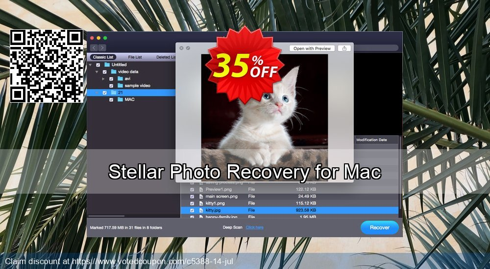 Get 35% OFF Stellar Photo Recovery (MAC) Coupon