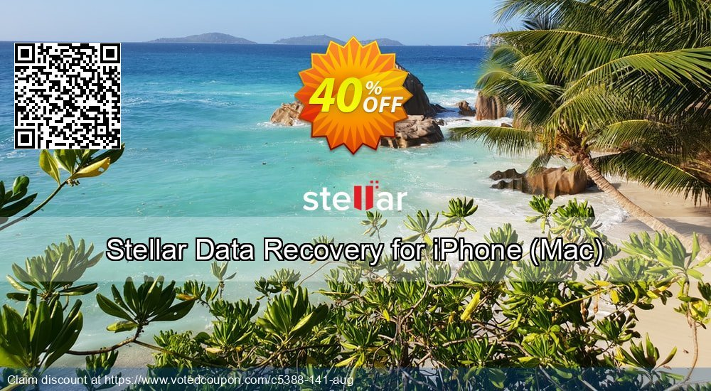 Get 50% OFF Stellar Data Recovery for iPhone coupon (MAC) Coupon