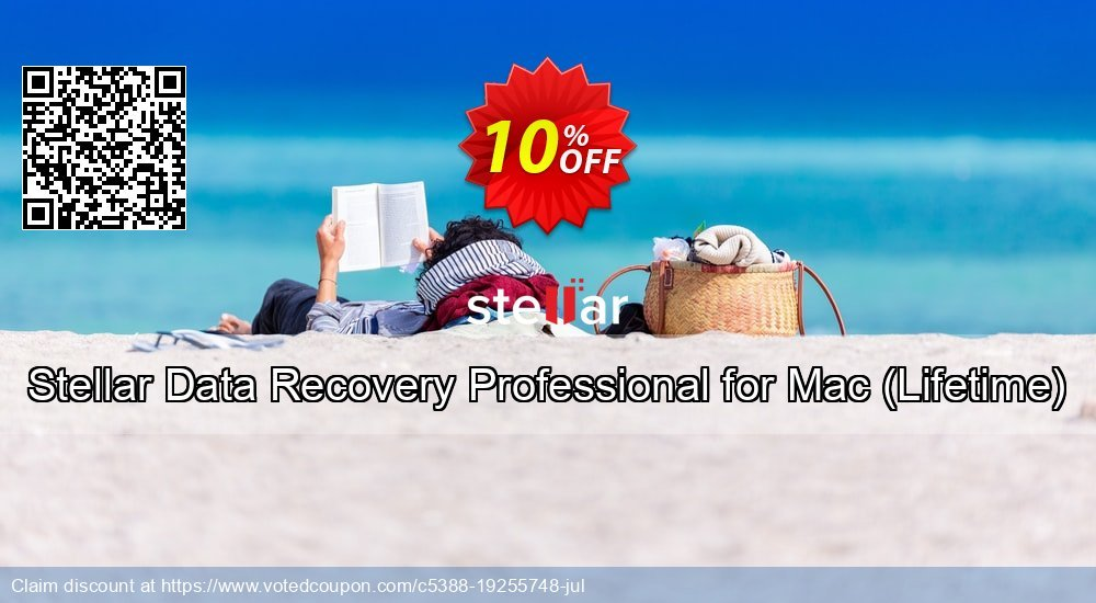 Get 10% OFF Stellar Data Recovery Professional for Mac, Lifetime Coupon