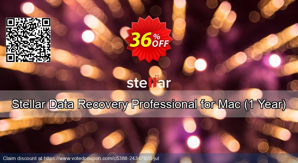 Get 36% OFF Stellar Data Recovery Professional for Mac, 1 Year Coupon