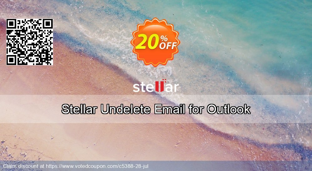 Get 20% OFF Stellar Undelete Email for Outlook Coupon